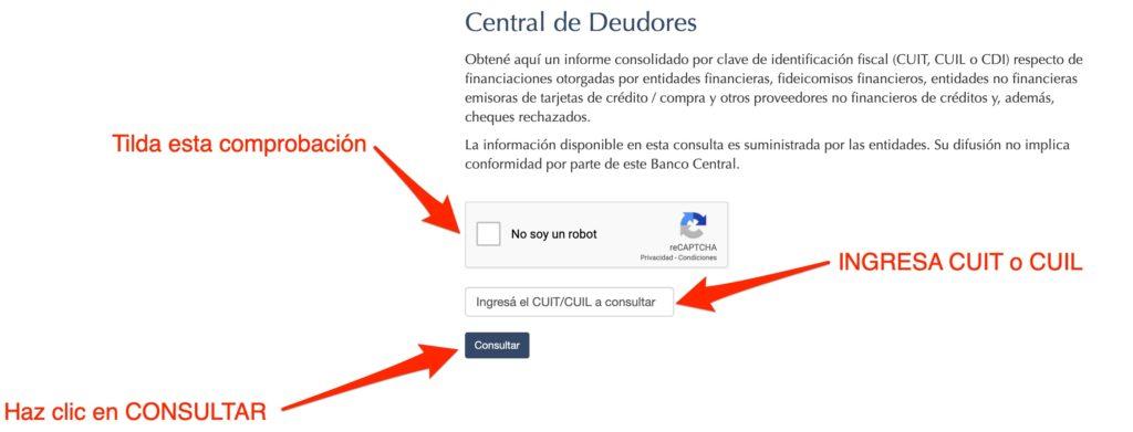 central de deudores