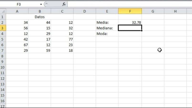 calcular la media de Excel