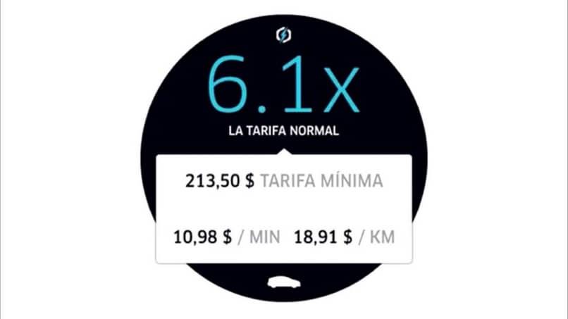 calcular la tarifa uber