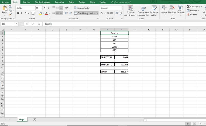 agregar datos de Excel