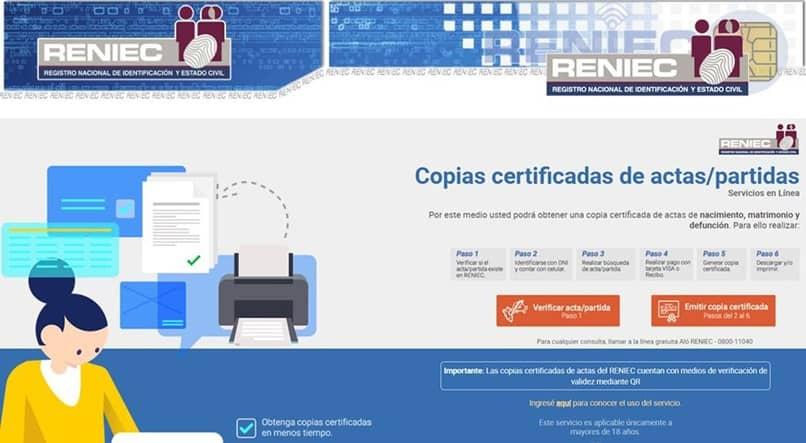 certificado reniec dni