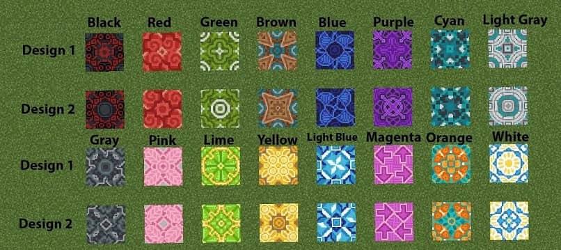 variedad en azulejos