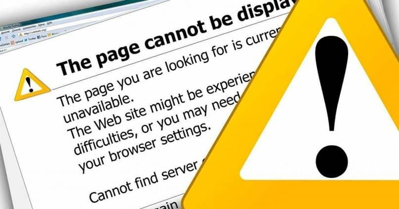página de alerta amarilla
