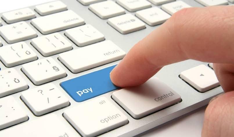clave de pago azul