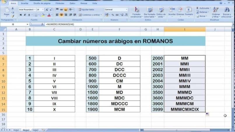 números normales en latín