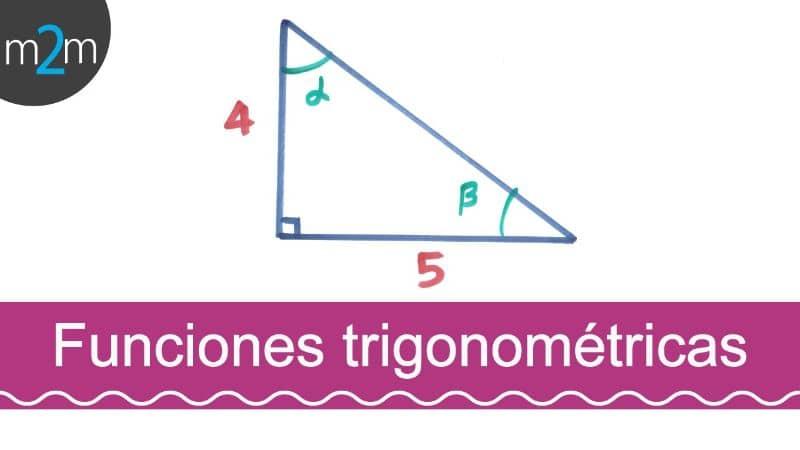 funciones trigonométricas triángulo fondo blanco