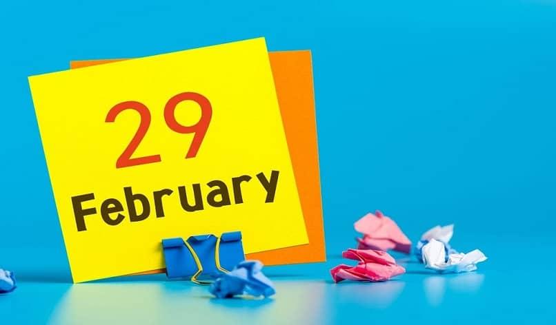 Cartel del 29 de febrero para el salto.