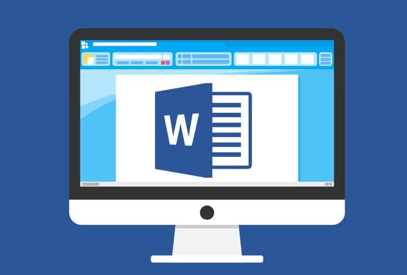 Ilustración de pantalla de computadora con palabra