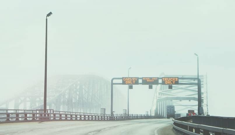 pagar peajes en un puente