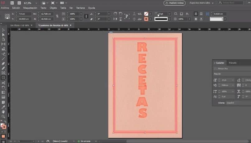 programa corel foto pintura hoja rectangular