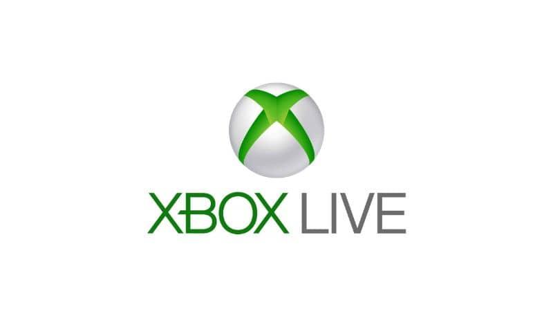 Fondo blanco del logo de Xbox Live