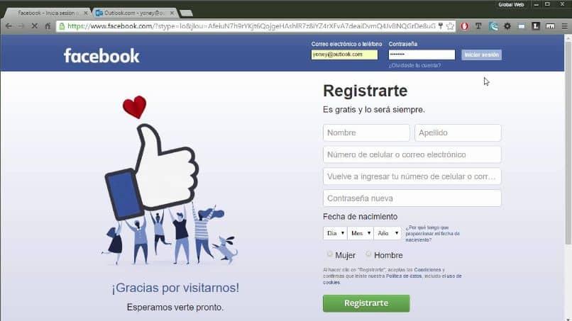 recuperación de cuenta de facebook