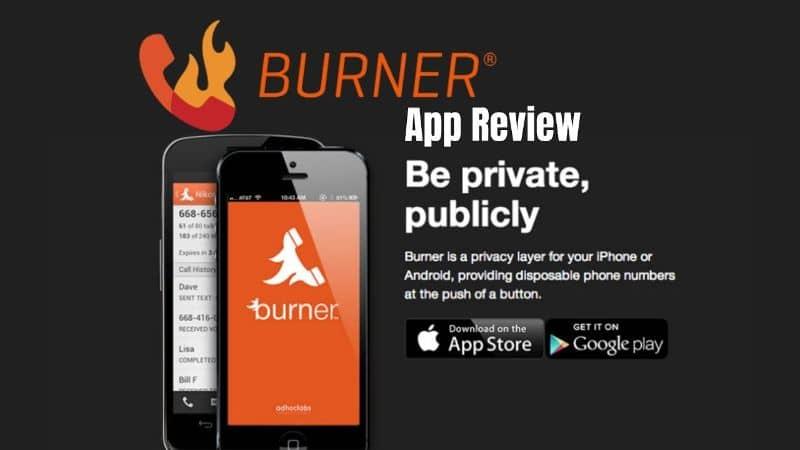 Aplicación Burner en el móvil