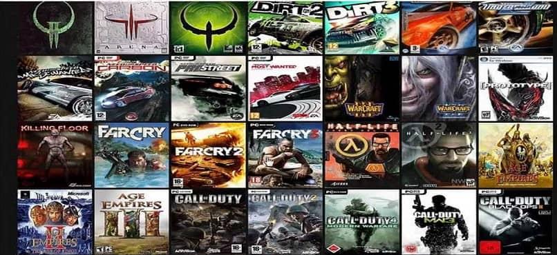 Cubiertas de juegos de computadora multijugador