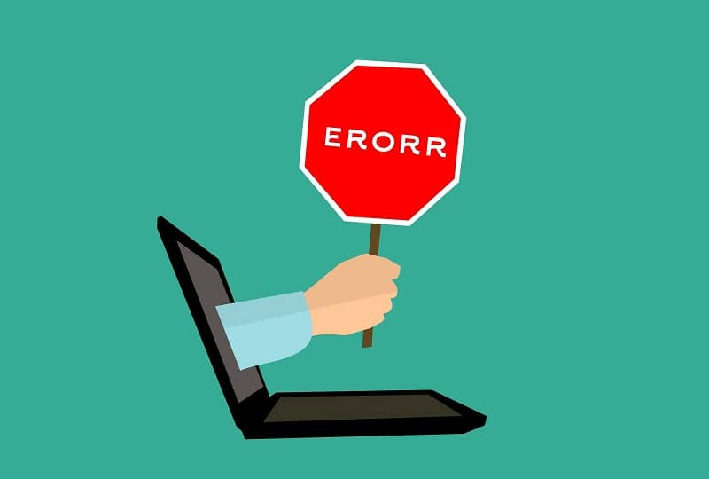 Error de señal de computadora