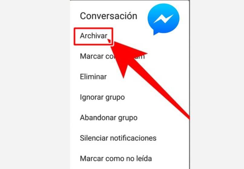 Flecha de mensajero azul y roja