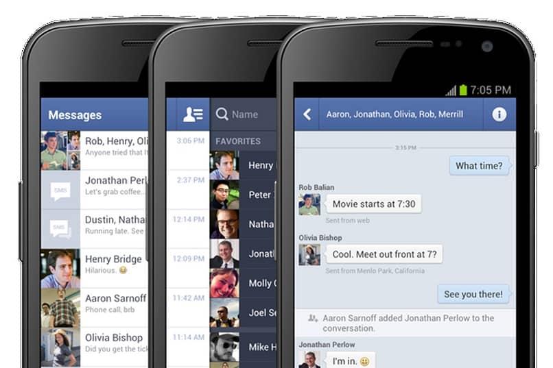 Los teléfonos usan chats de Facebook