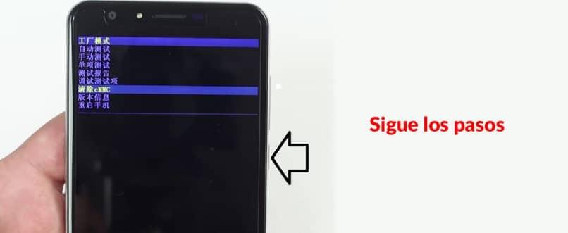pasos para reiniciar Android