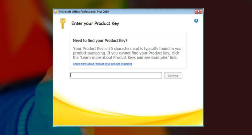 Encienda Microsoft Office 2010