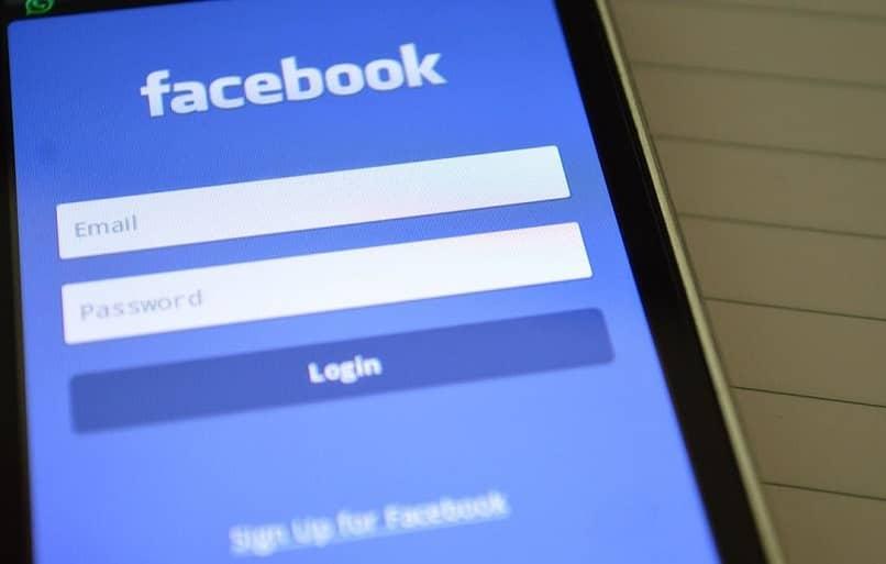 admin correo y contraseña de facebook