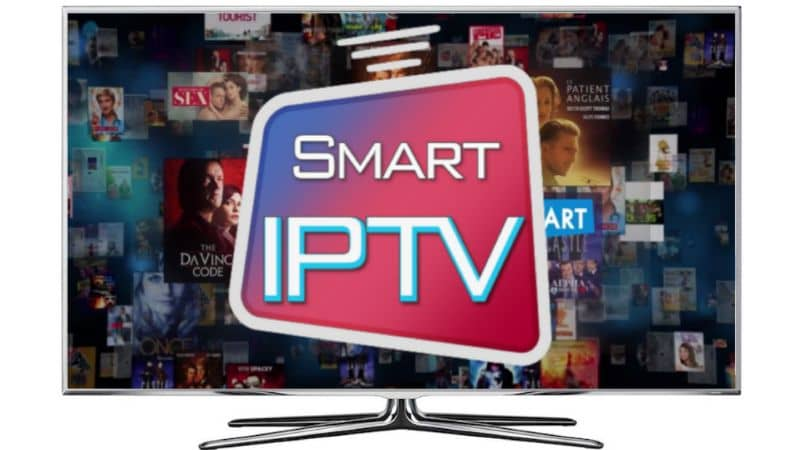 IPTV inteligente con fondo de película