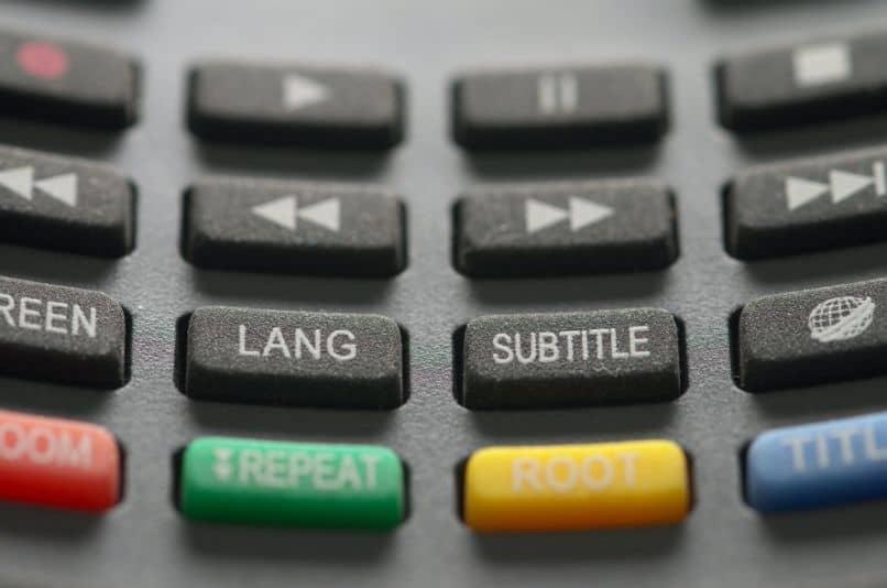 Botones de un mando a distancia