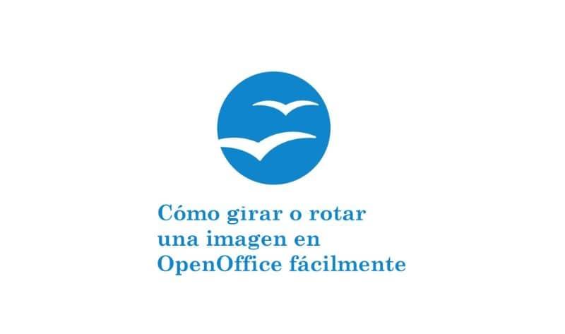 cómo rotar una imagen en OppenOffice y un logotipo sobre fondo azul y blanco