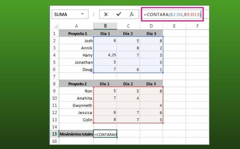 Ejecutar montos en Excel