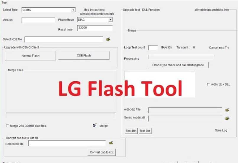 procedimiento para rescatar el teléfono móvil LG