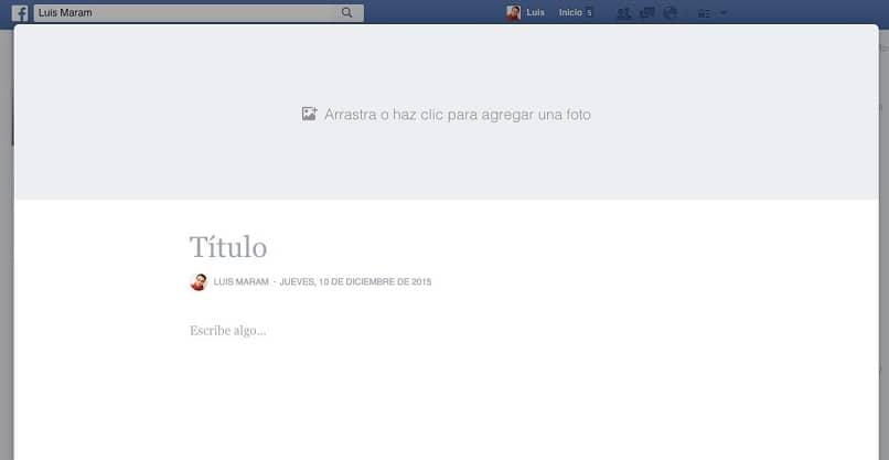 crear una página de facebook