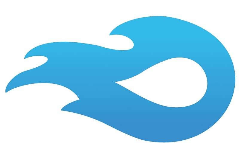 icono de mediafire azul