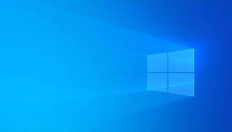 fondo azul de ventana significa
