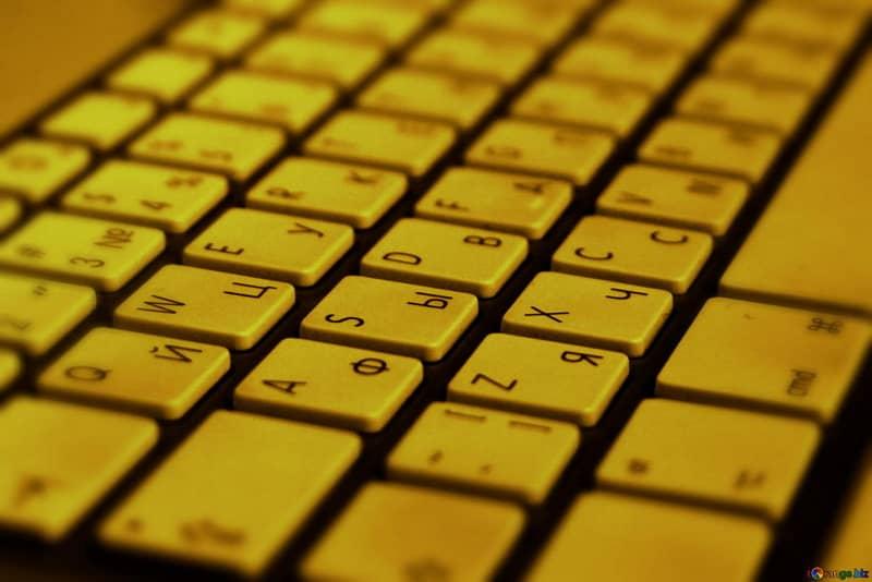 Teclado en tono amarillo