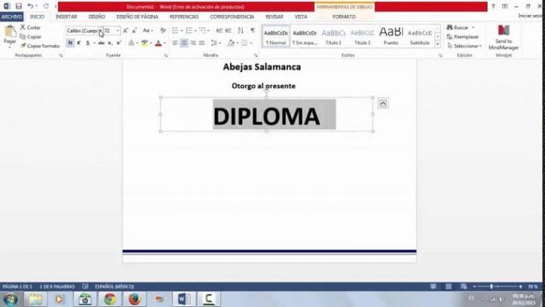 Estoy haciendo un diploma