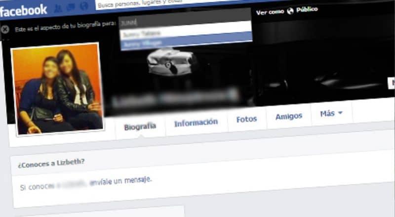 Perfil de Facebook de chicas