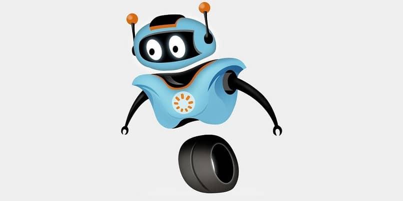 robot de dibujos animados