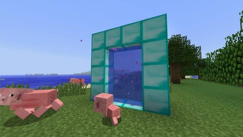 puerta de entrada a minecraft