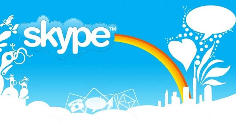 diseño de Skype azul