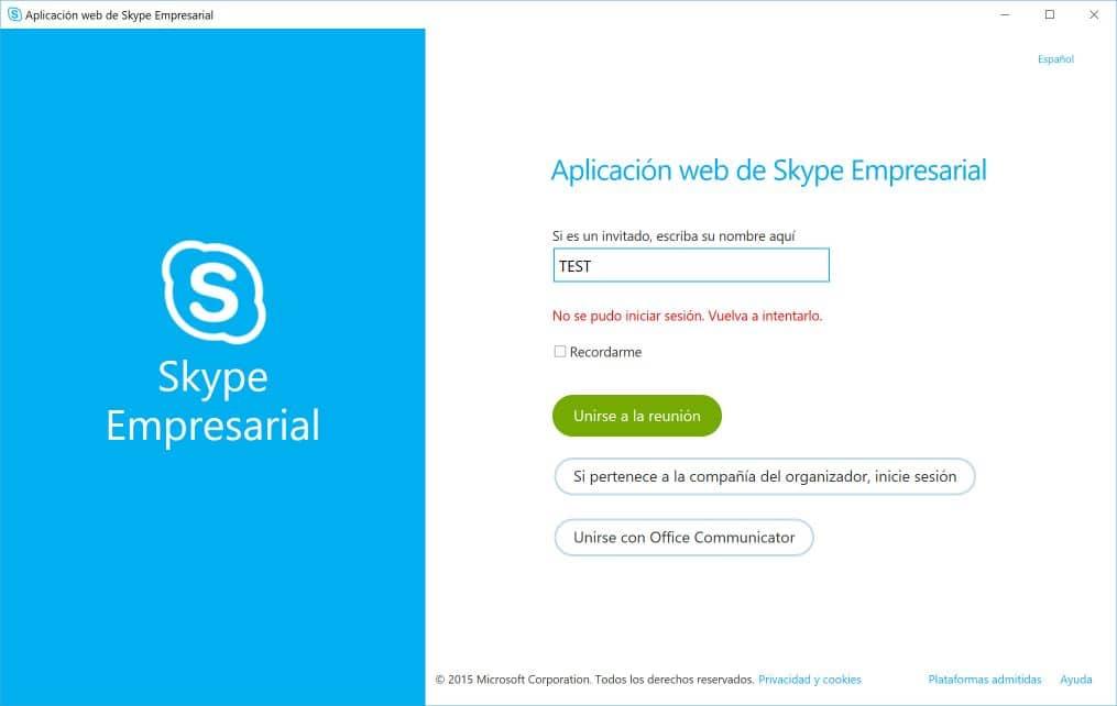 Conectarse a Skype Empresarial