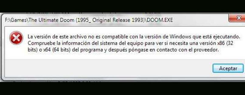 Error al descargar un programa de 32 bits en una computadora con Windows de 64 bits