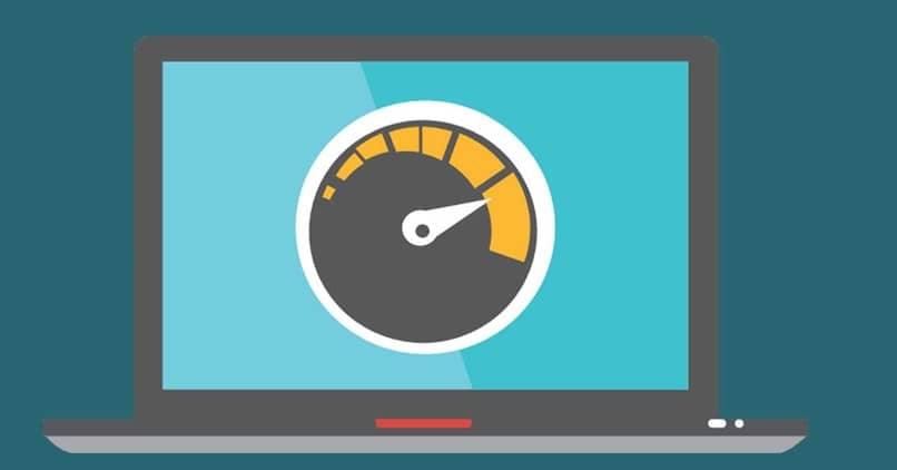 computadora de velocidad de internet