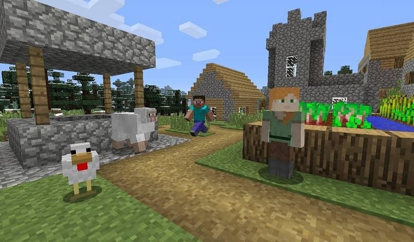 pueblo en el minecraft original