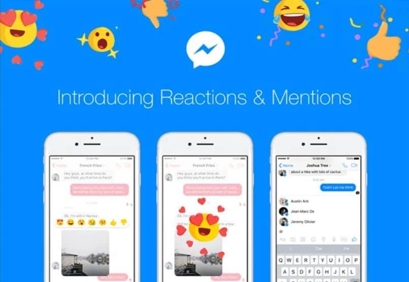 fondo de emoji de mensajero azul móvil