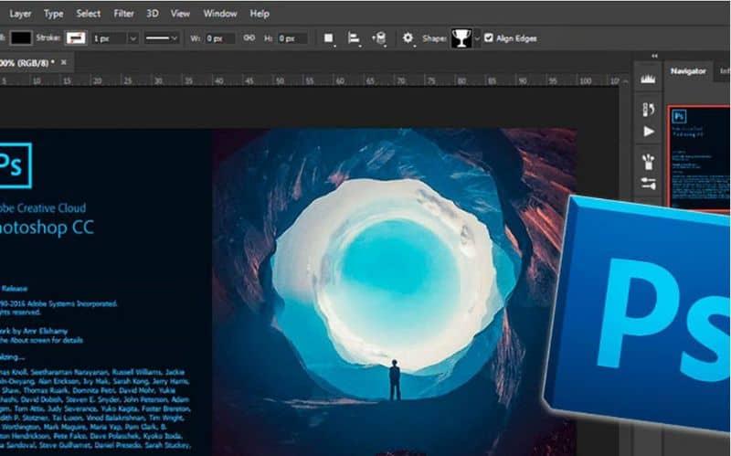 La pantalla de Photoshop elimina la luz brillante