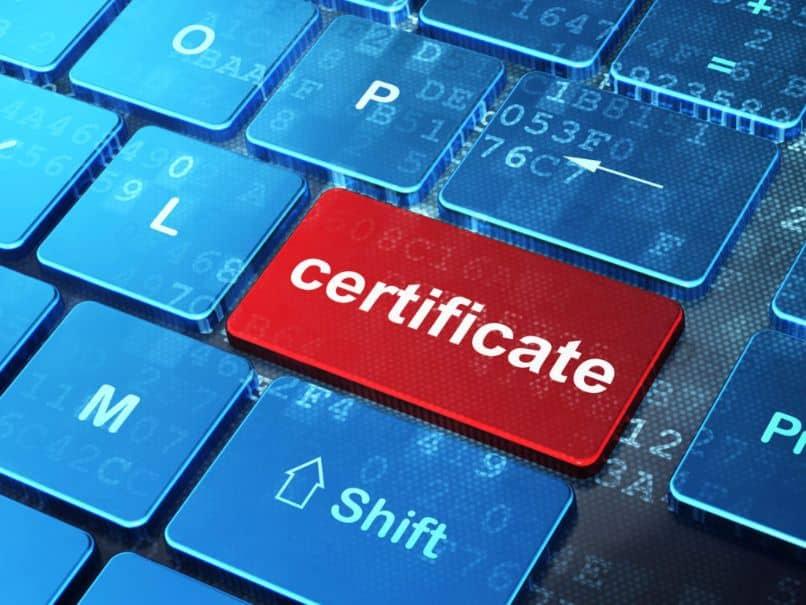exportación de certificado digital
