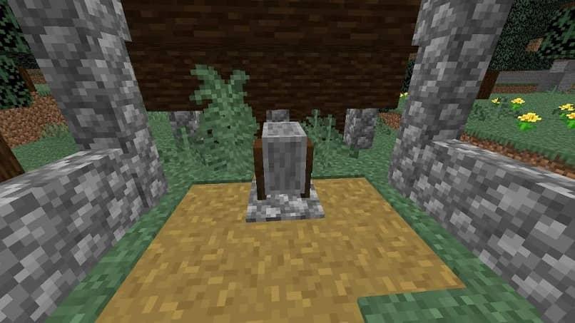 Minecraft piedra y madera