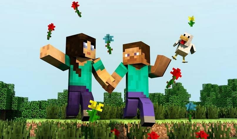 minecraft pareja romantica