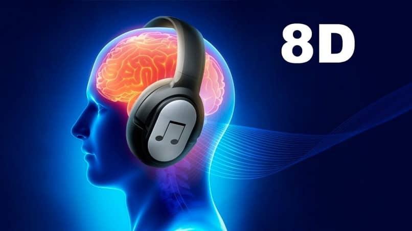 Persona escuchando música 8D