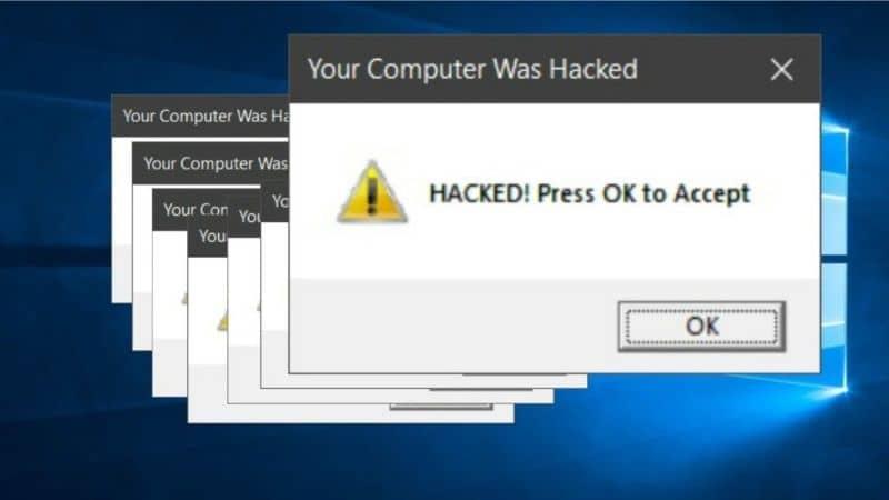 computadora con virus