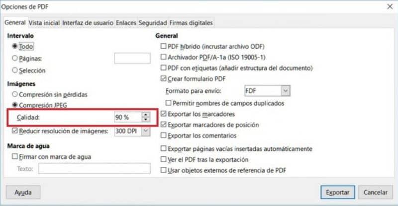 Cambiar la resolución de un PDF